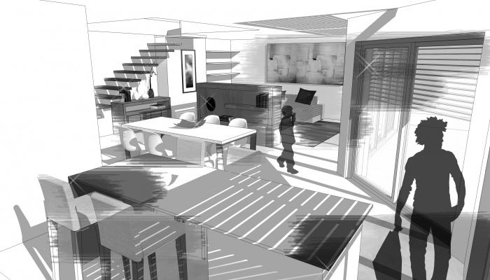 2 maisons contemporaines BBC : espace de vie