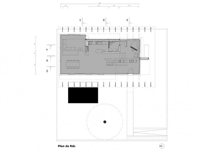 Villa B2 : Plan Rdc