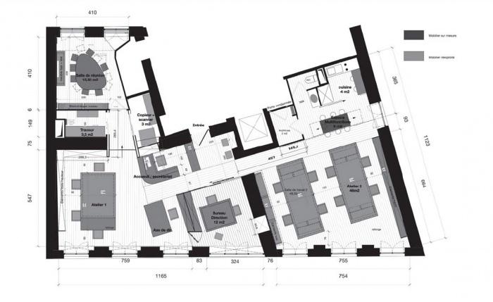 am nagement des locaux de l 39 agence in situ lyon lyon. Black Bedroom Furniture Sets. Home Design Ideas