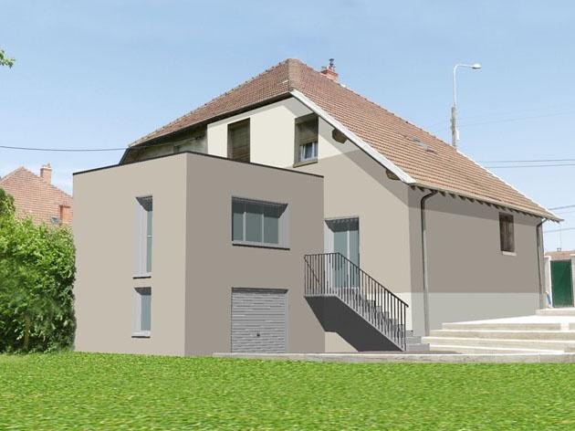 Extension d 39 une maison individuelle tassin tassin la for Architecte lyon maison individuelle