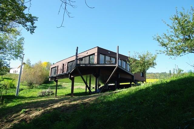 Maisons ossature acier ou mixte acier bois maison m tal for Maison en bois sur pilotis