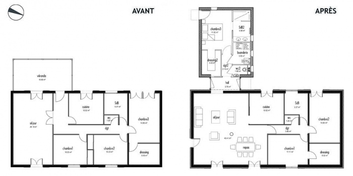 Extension r novation d 39 une maison ternay ternay une for Agrandissement maison besoin architecte