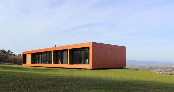 Maison contemporaine bois & paille : Maison GALLET ARCHITECTES_01
