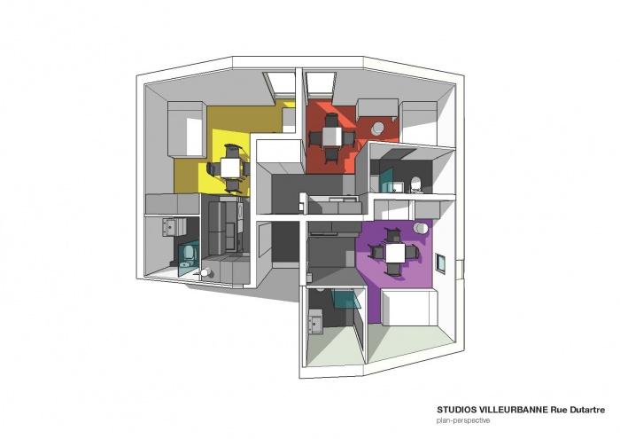 3 STUDIOS : Répartition spatiale