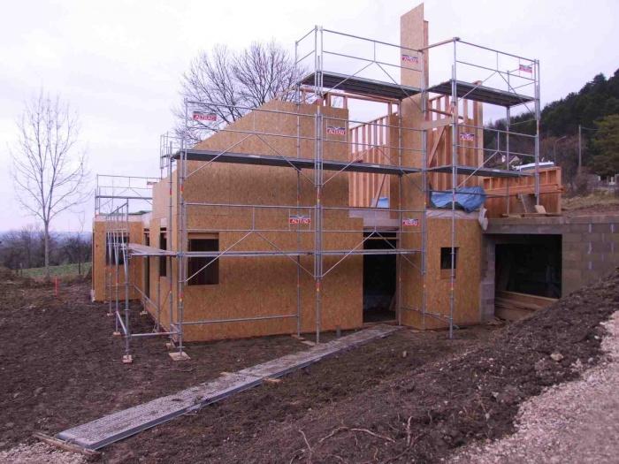 Maison individuelle à ossature bois : Pendant le chantier 2
