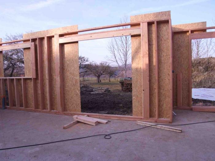 Maison individuelle à ossature bois : pendant le chantier 0