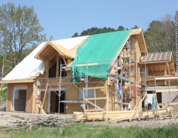 Maison individuelle à ossature bois : fin de chantier