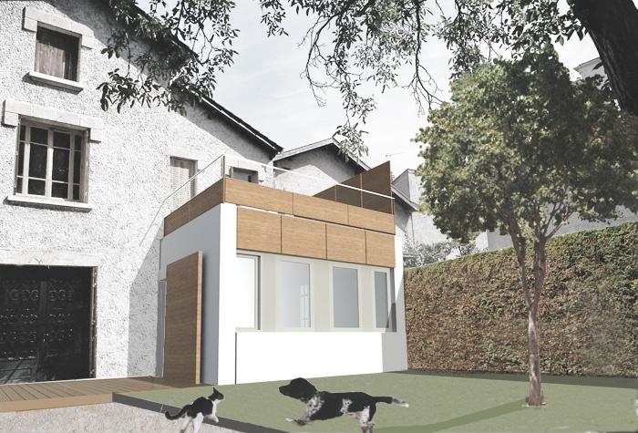 Réhabilitation et extension d'une maison de ville