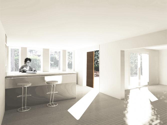 Réhabilitation et extension d'une maison de ville : interieur