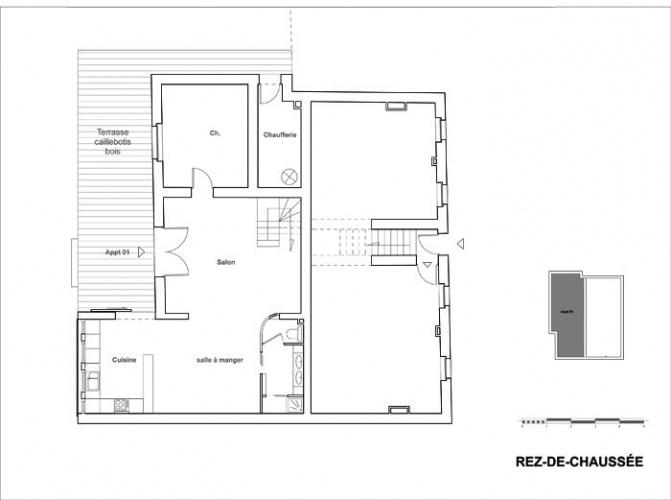 Réhabilitation et extension d'une maison de ville : projeniveaut00