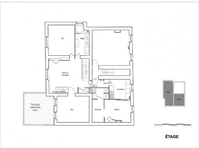 Réhabilitation et extension d'une maison de ville : projetniveau01
