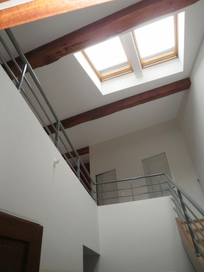 Un logement dans une ancienne grange : L'accès à l'étage