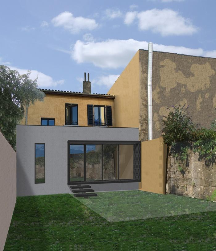 Extension d 39 une maison de ville lyon - Extension maison de ville ...