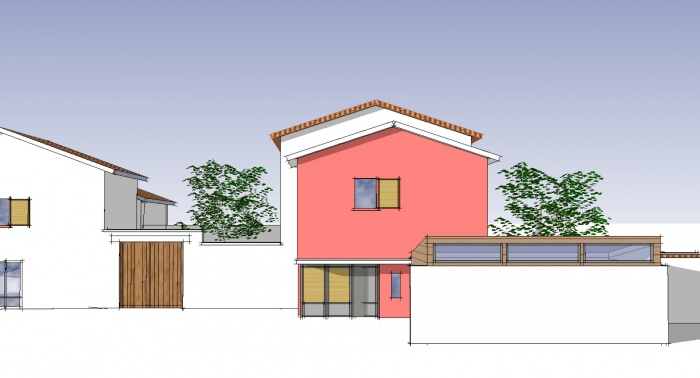 Extension logement de Ferme : Avant projet extension
