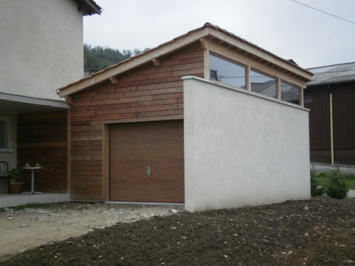 Extension logement de Ferme : Le garage
