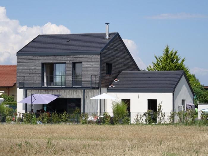 Maisons Loisin : 5-Vue côté jardin