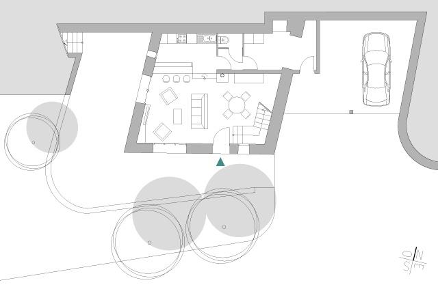 Transformation d'une grange en habitation : fost-architecture_GRIO_05_plan-rez-de-jardin_item-type-6