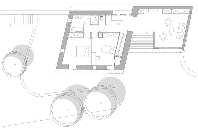 Transformation d'une grange en habitation : fost-architecture_GRIO_06_plan-rez-de-chaussee_item-type-6