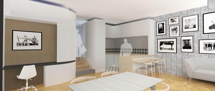 r habilitation et transformation d 39 un appartement st. Black Bedroom Furniture Sets. Home Design Ideas