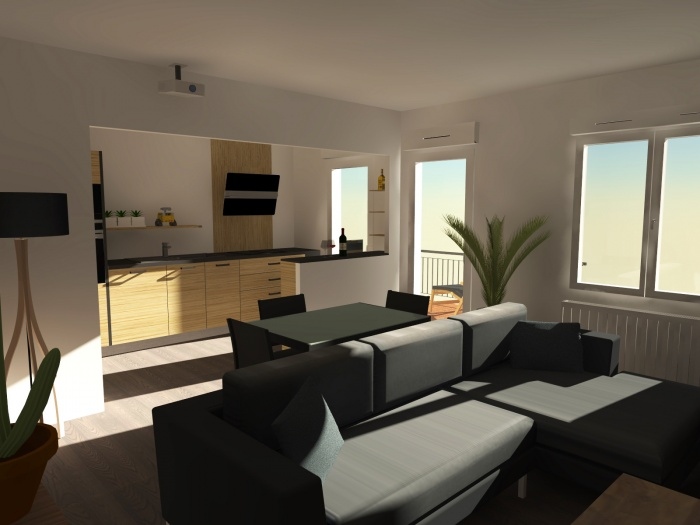 Appartement L : Etude de la cuisine