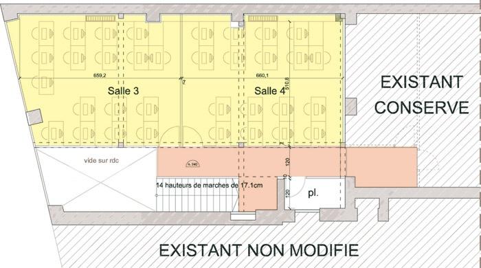 Bureaux à Lyon : étage