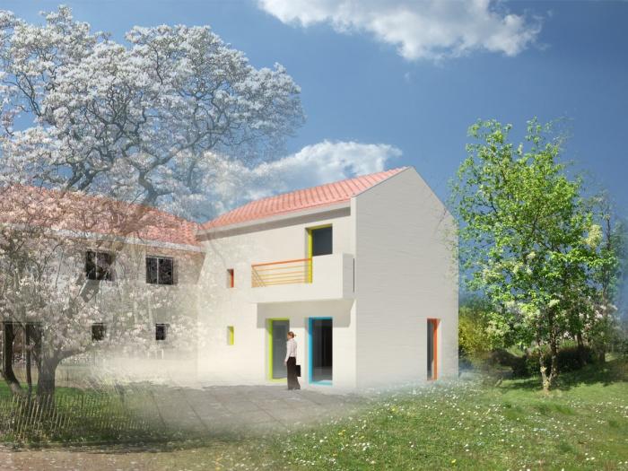 Architecte jean baptiste poulain caluire et cuire for Extension maison lotissement