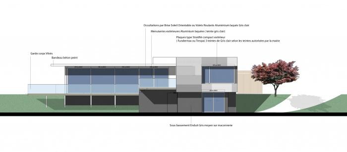 Maison d'habitation : façade SUD