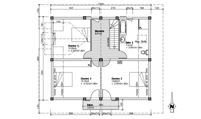 aménagement du premier étage