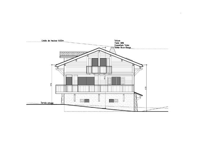 maison coté pignon et balcons