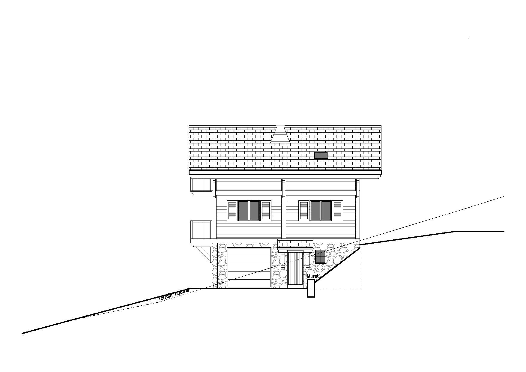 maison à flanc de montagne