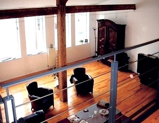 salon vu depuis mezzanine