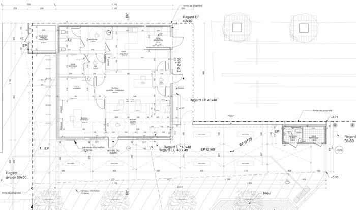 plan d'une gare en projet d'agrandissement
