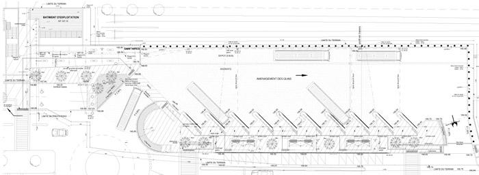 plan d'une gare, vue de dessus