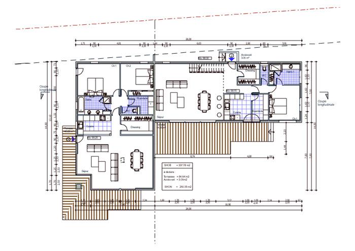 Maison contemporaine à Charbonnière les Bains (69)