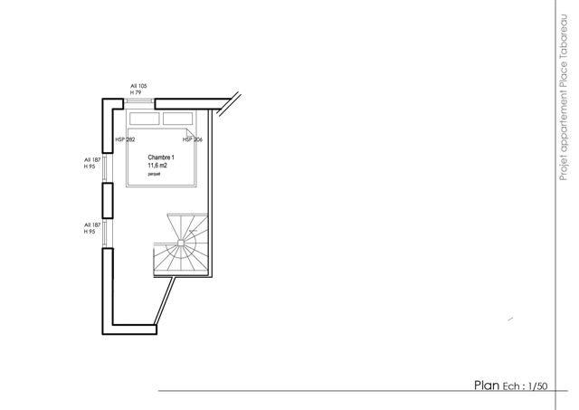 plan appartement en duplex deuxième niveau sous les combles